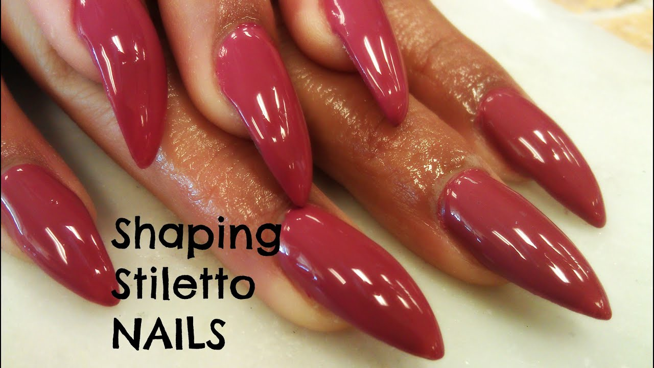 stiletto nails how to shape photo - 1