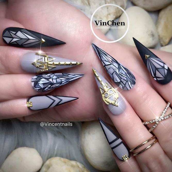 stiletto nails instagram photo - 2