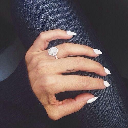 stiletto nails love black and white rings photo - 2