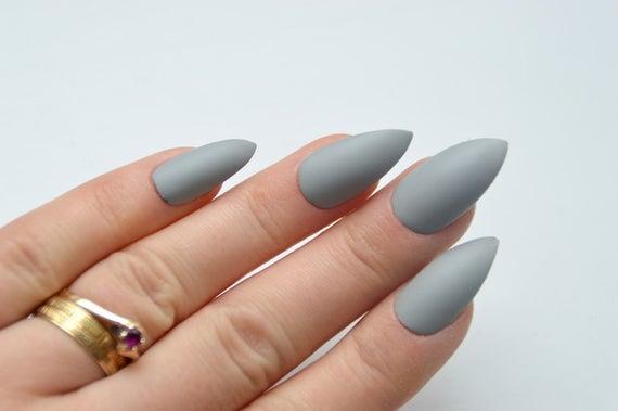 stiletto nails press on photo - 2