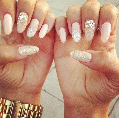 stiletto nails rounded pinkish nude photo - 1