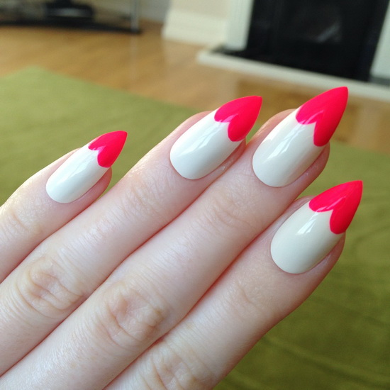 stiletto nails short matte photo - 2