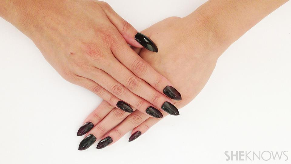 stiletto nails without acrylic photo - 1