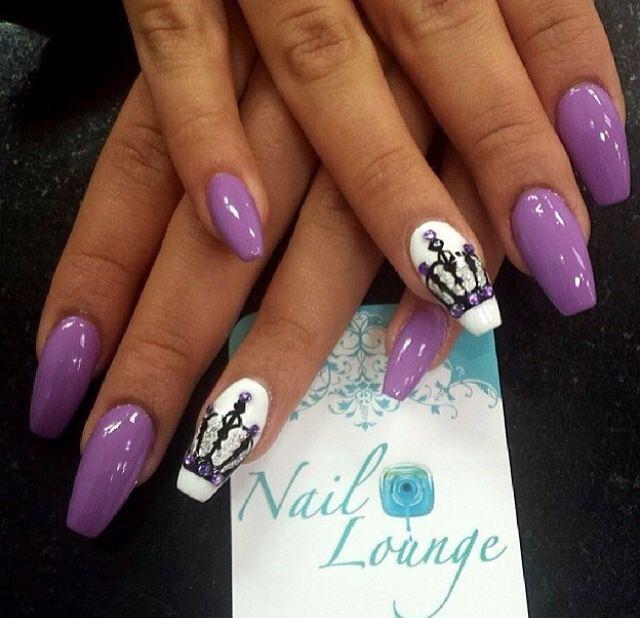 stiletto purple nails photo - 1