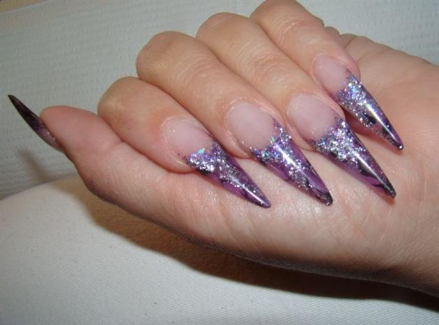 stiletto purple nails photo - 2