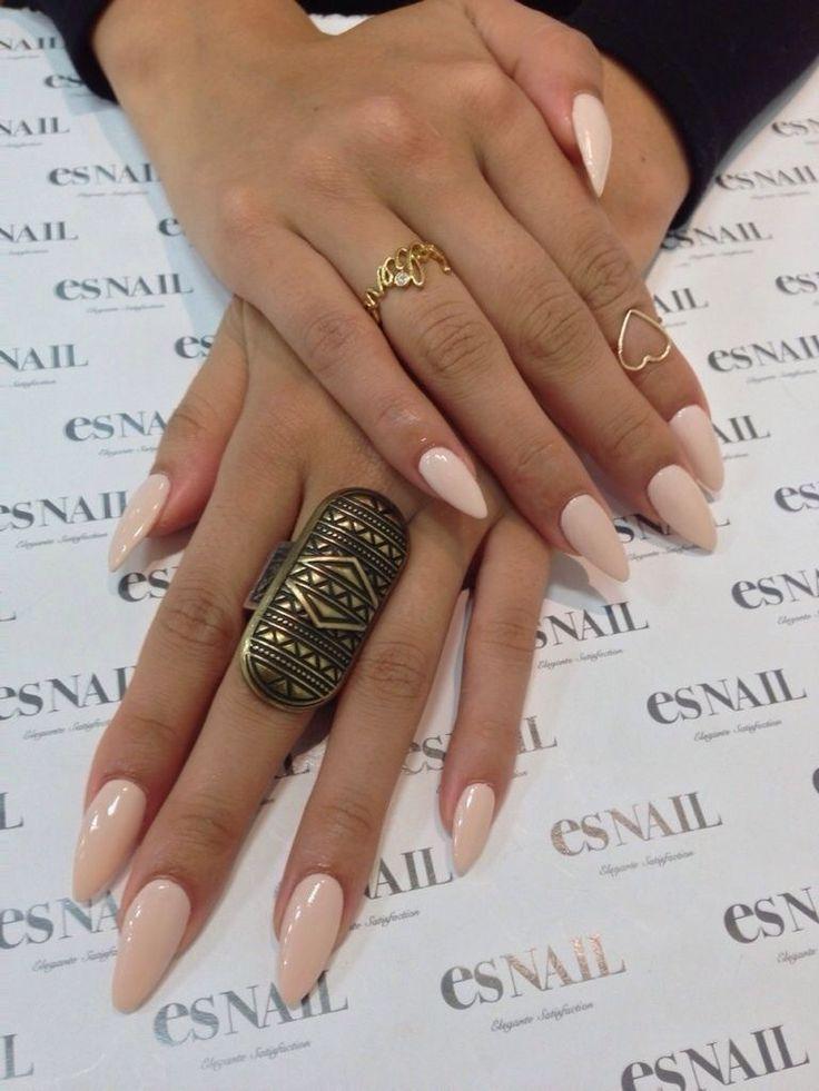stiletto round nails photo - 2