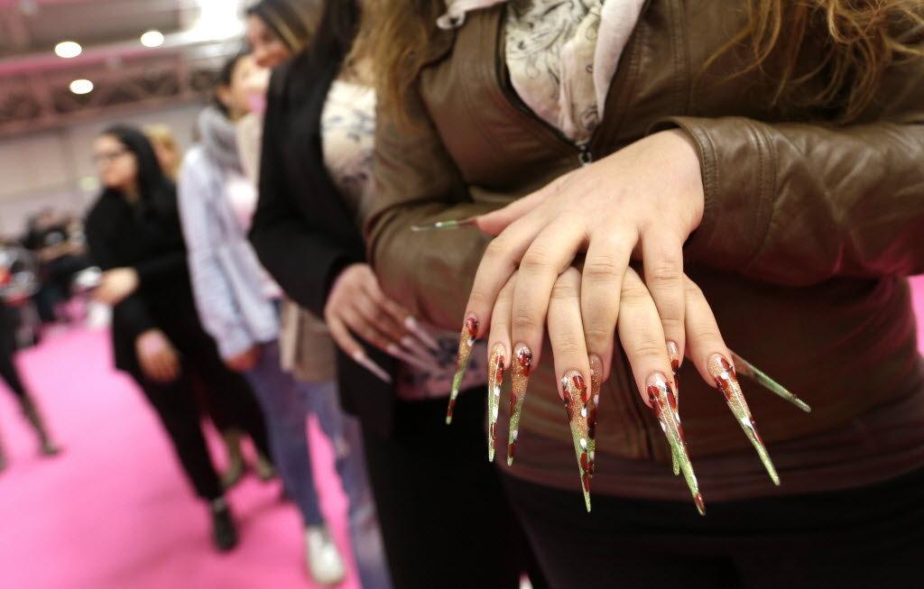 stiletto square nails short photo - 1