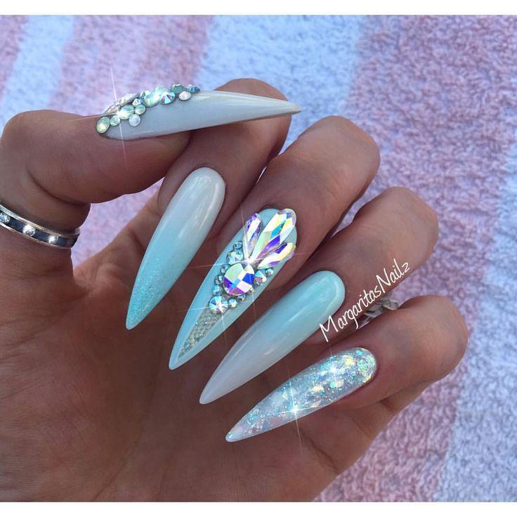 stiletto summer nails photo - 1