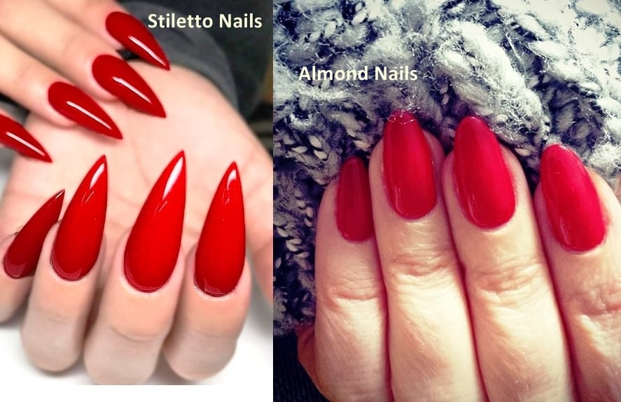 stiletto vs almond shaped nails photo - 1