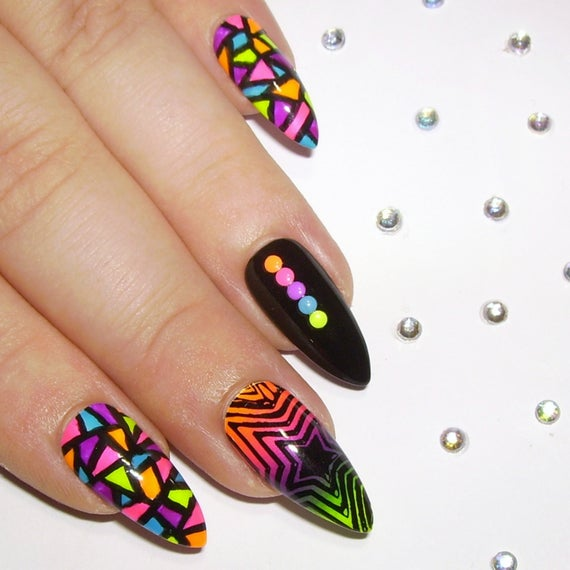 studded stiletto nails photo - 2
