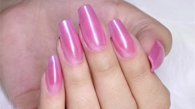 subtle acrylic nails photo - 1