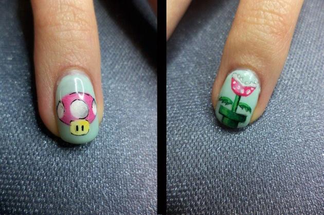 super mario gel nails photo - 1