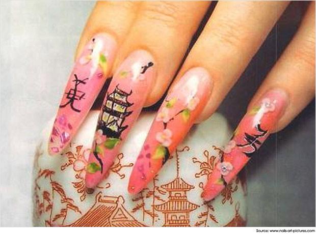 traditional stiletto nails photo - 2