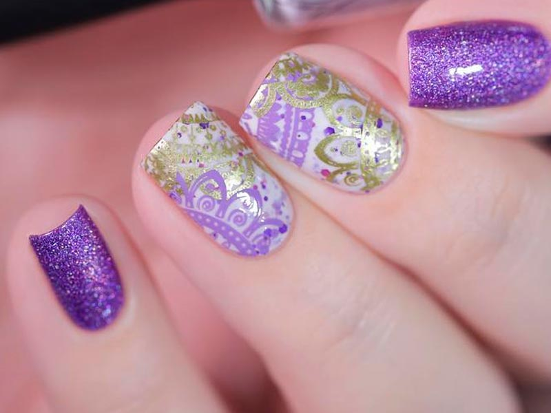 trendy acrylic nails with designs photo - 2