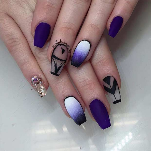 trendy ombre colored coffin nails photo - 1