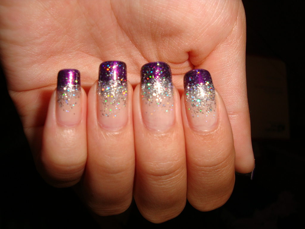 two tone acrylic nails photo - 1