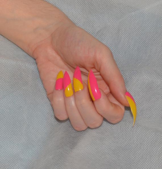 two tone stiletto nails photo - 1