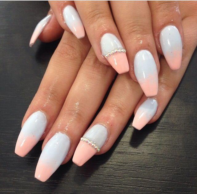 two tone stiletto nails photo - 2