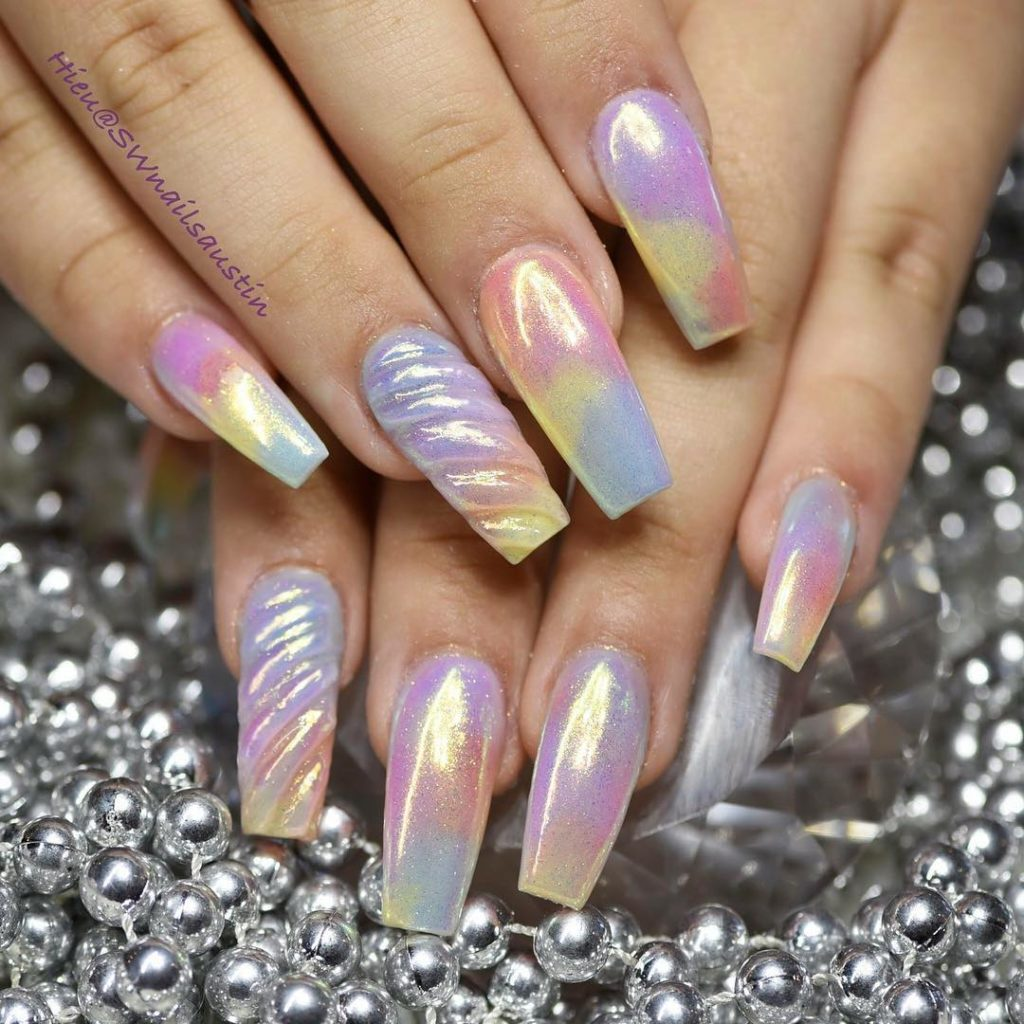 Unicorn Coffin Nails New Expression Nails