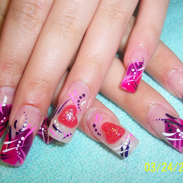 unique acrylic nails designs photo - 1