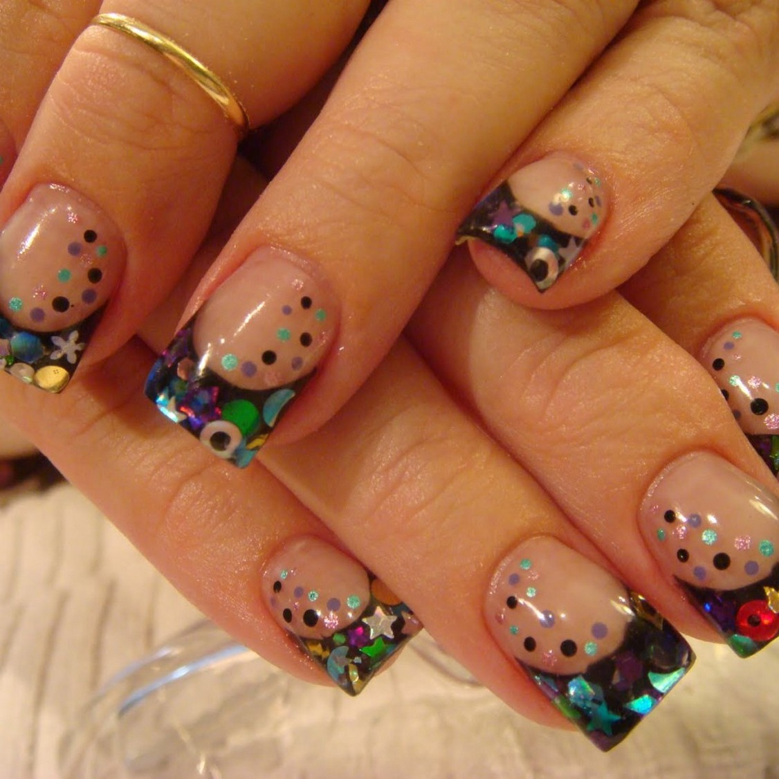 unique acrylic nails designs photo - 2