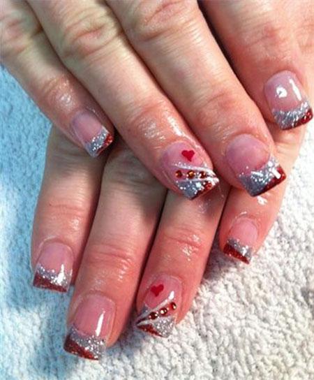 valentine acrylic nails photo - 2