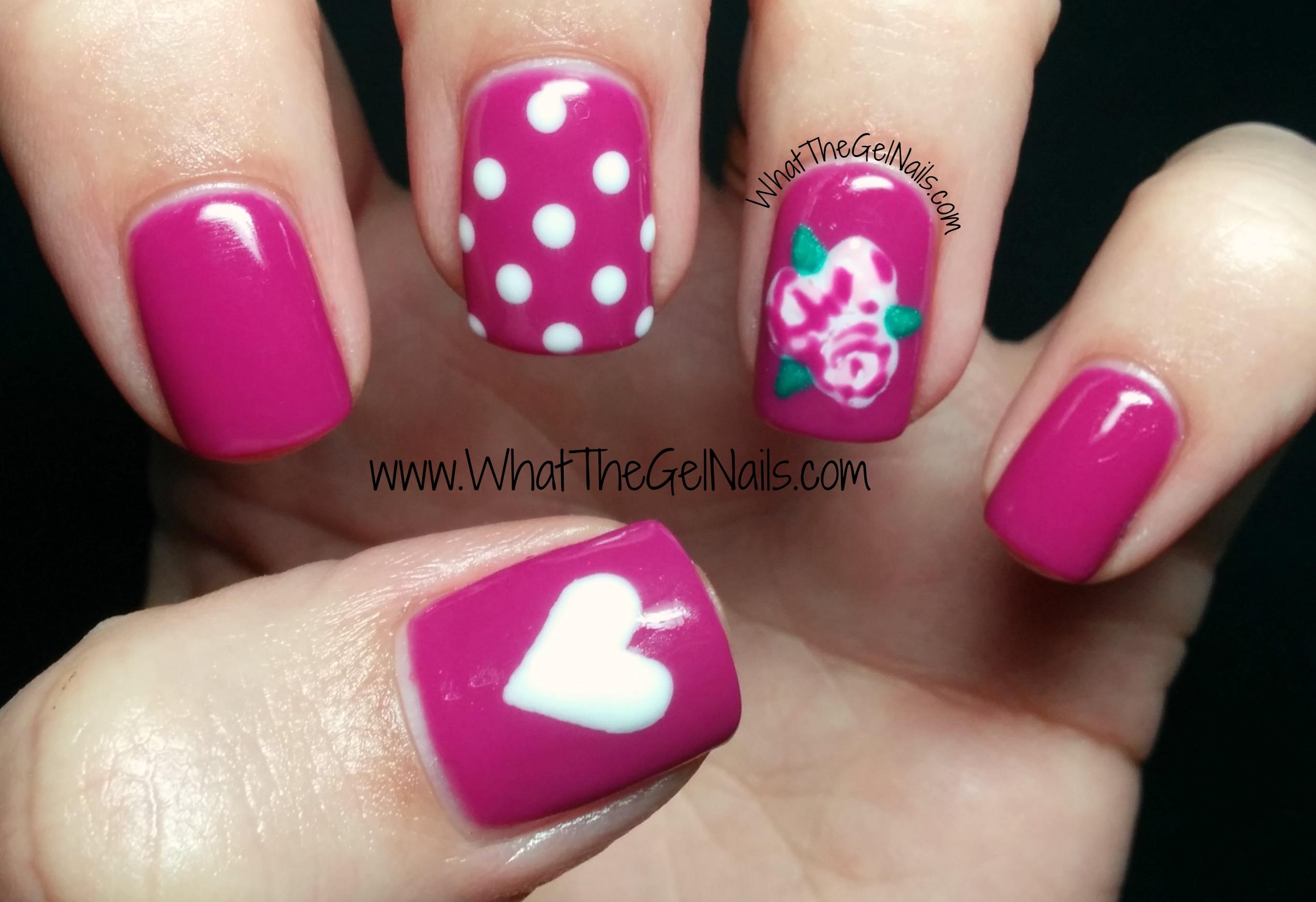 valentine gel nails photo - 2