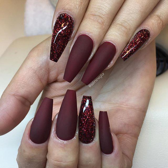 vamp acrylic nails photo - 2