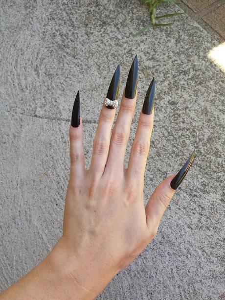 very long stiletto nails photo - 2