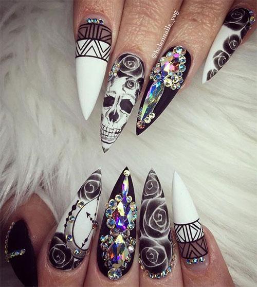 wedding acrylic nails photo - 2
