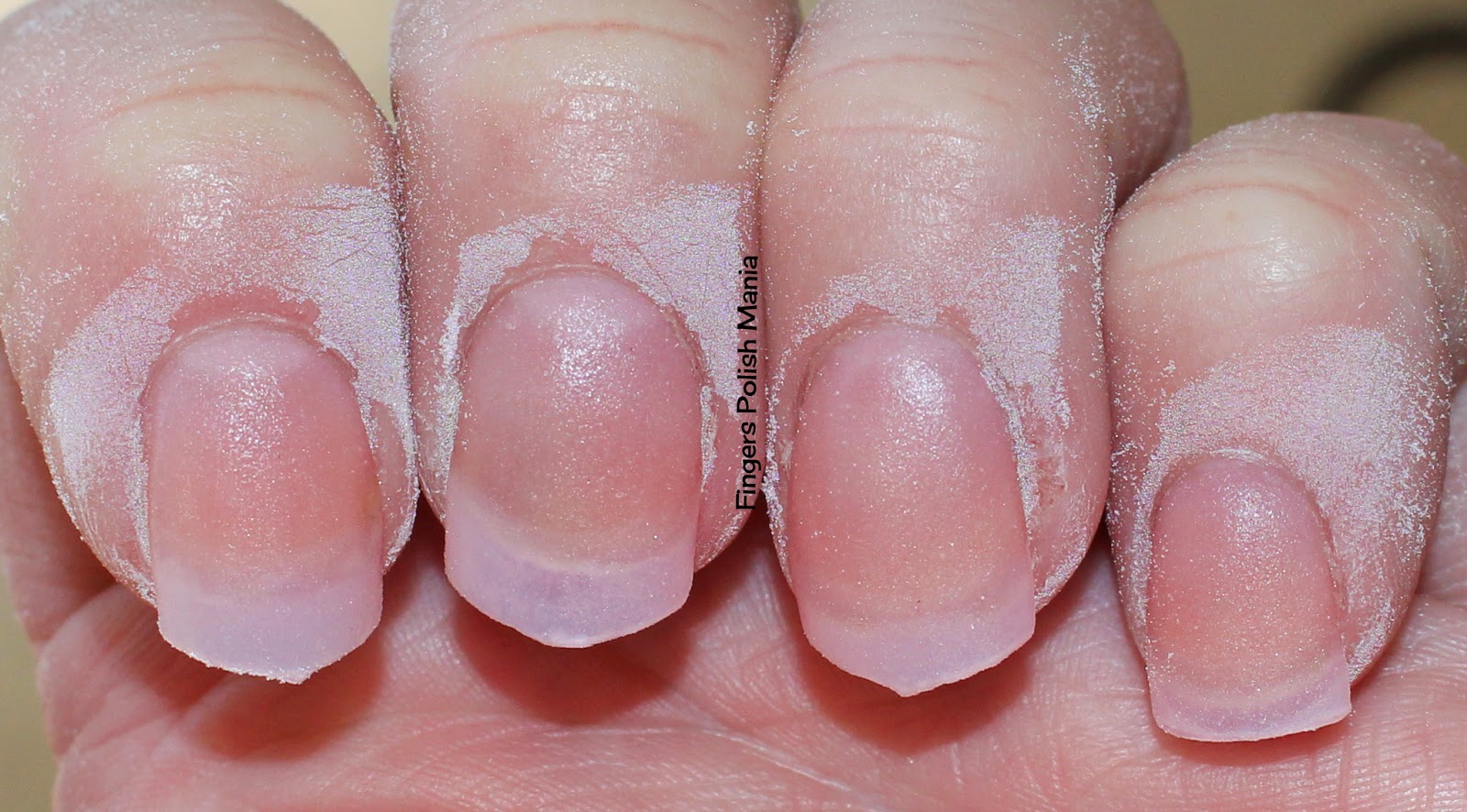 what does powder dip gel nails look like photo - 1