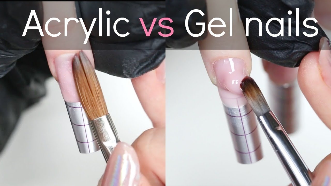 what the difference between uv gel nails and acrylic photo - 1