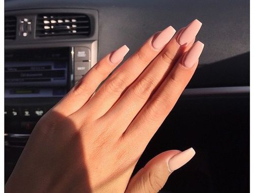where can i get fake coffin nails matte nude color photo - 1
