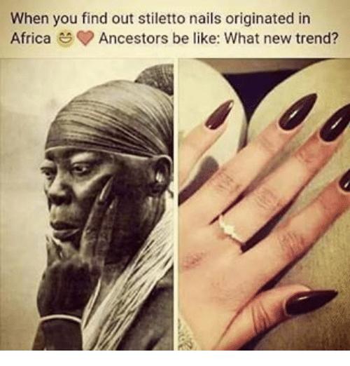 where did stiletto nails originated photo - 2