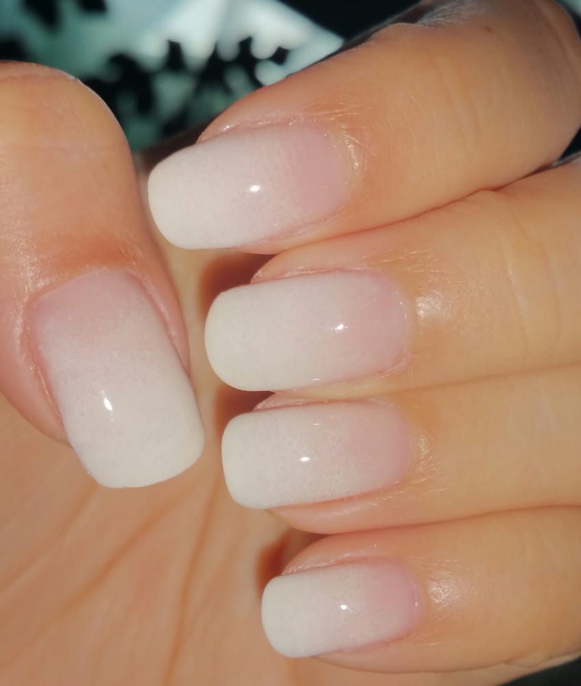 white gel nails photo - 2