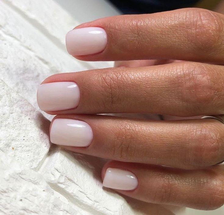 white gel nails with gemsdark skin photo - 1