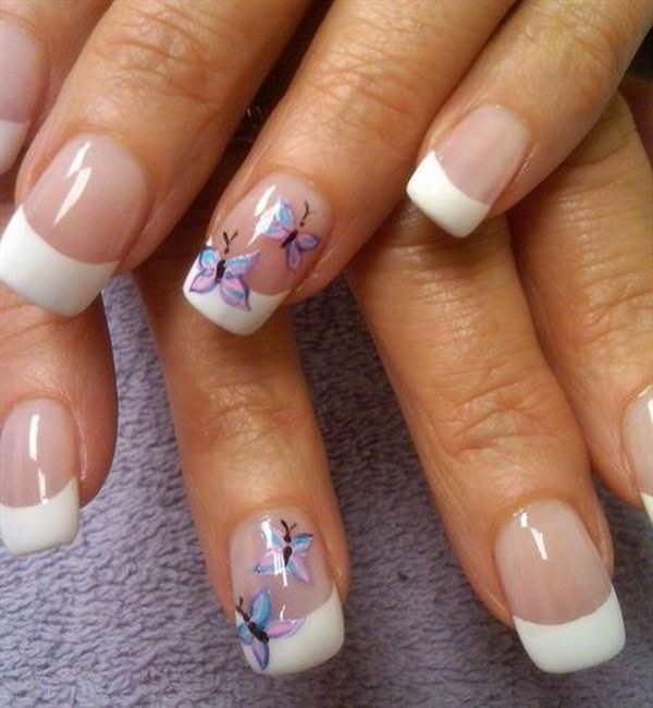 White Tip Acrylic Nails Designs Expression Nails