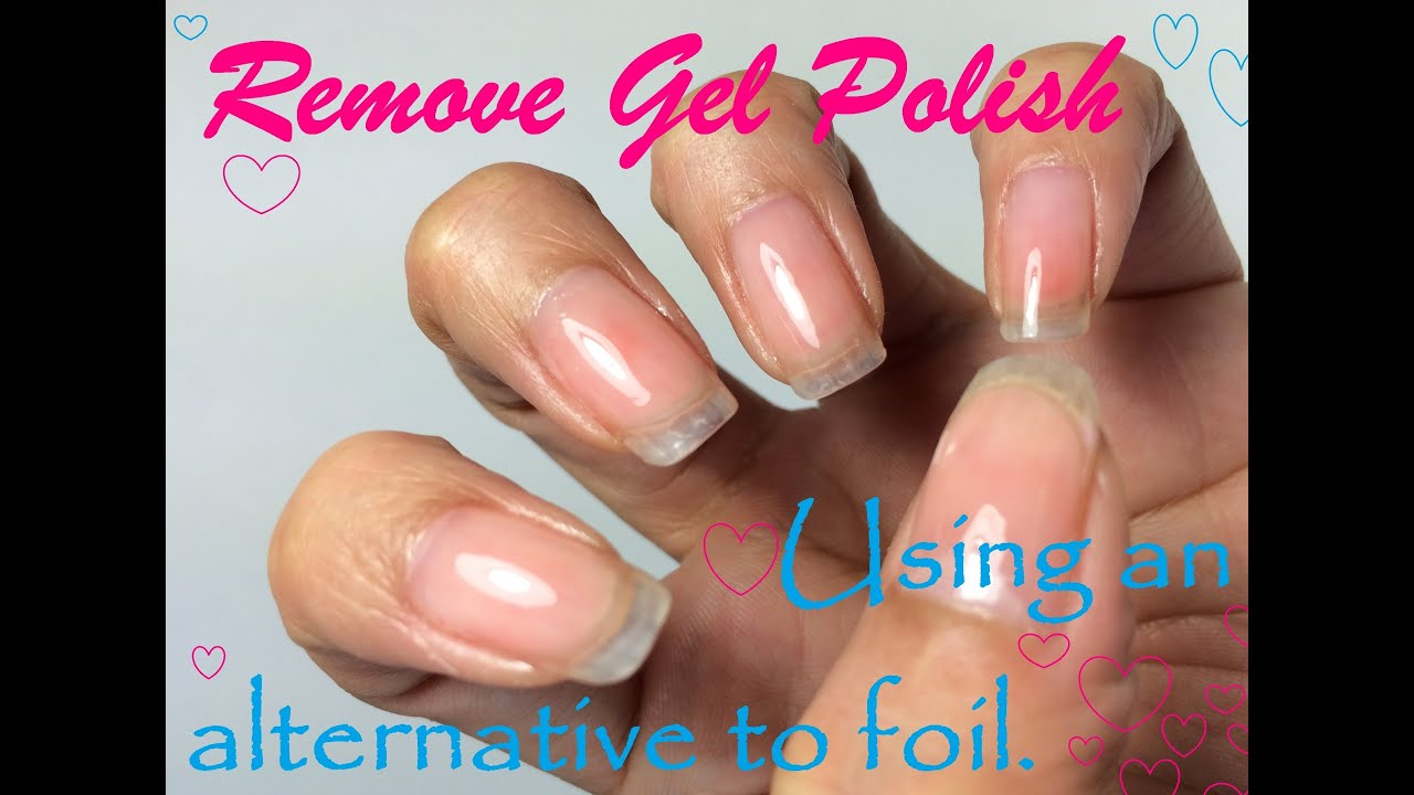 why do you need foil to remove gel nails photo - 1