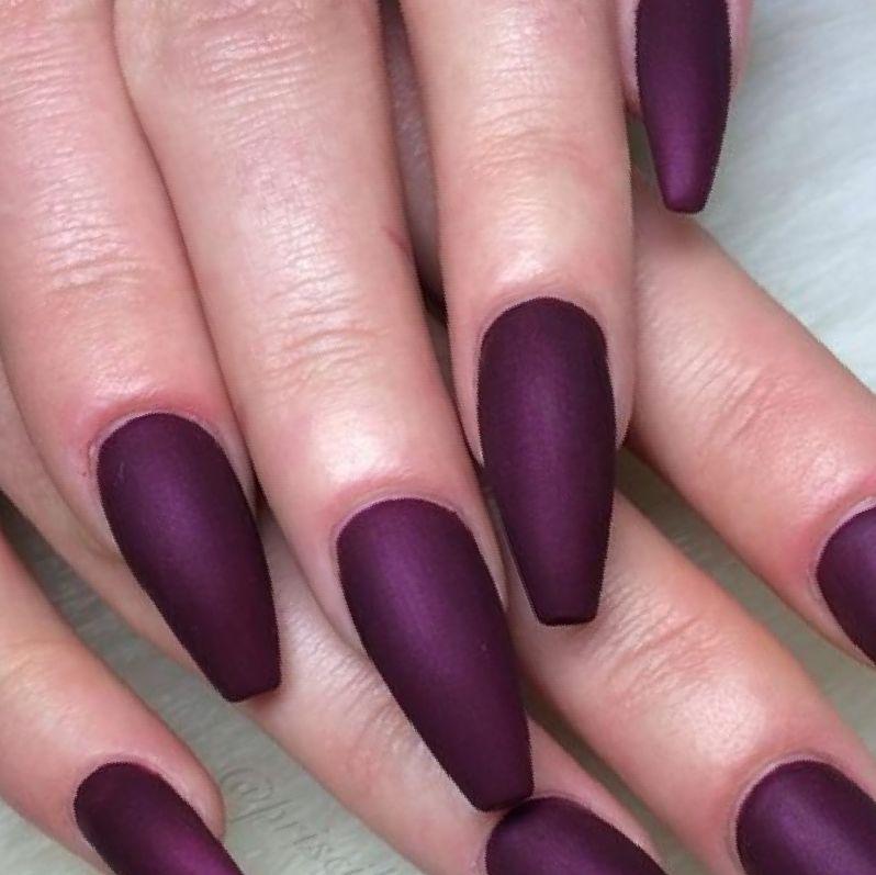wine matte coffin nails photo - 2