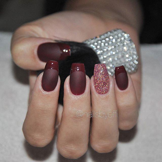 wine stiletto nails photo - 1